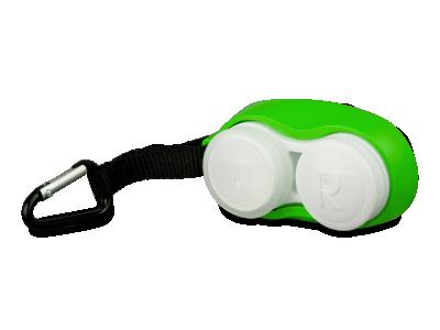 Pouzdro na čočky s karabinkou zelené