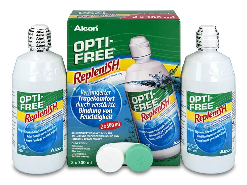 Roztok Opti-Free RepleniSH 2 x 300 ml  - Alcon