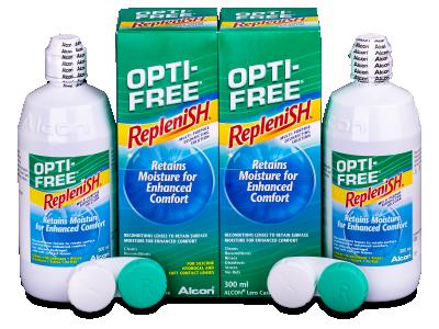Roztok Opti-Free RepleniSH 2 x 300ml  - Economy duo pack- solution