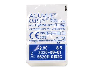 Acuvue Oasys 1-Day with Hydraluxe (30čoček) - Vzhled blistru s čočkou