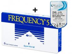 Kontaktní čočky CooperVision - Frequency 55 (6 čoček) + TopVue Plus (1 čočka)