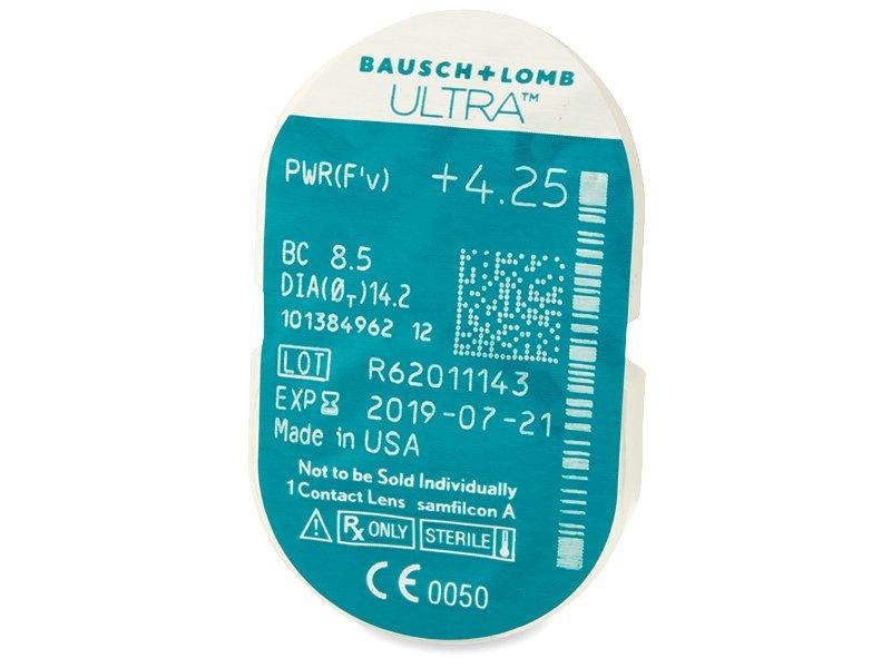 Bausch + Lomb ULTRA (6 čoček) - Vzhled blistru s čočkou