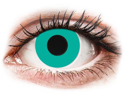CRAZY LENS - Solid Turquoise - nedioptrické jednodenní (2 čočky)