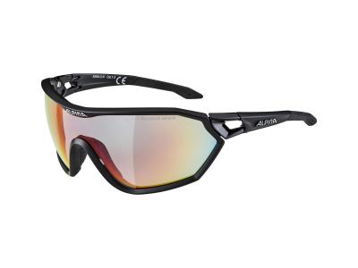Sluneční brýle Alpina S-Way QVM+ Black Matt/Quattro Varioflex Rainbow Mirror