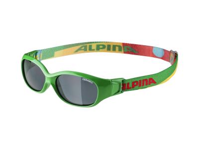 Sluneční brýle Alpina Sports Flexxy Kids Green Puzzle