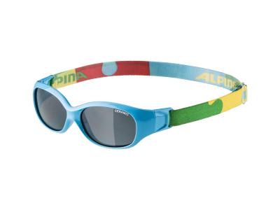 Sluneční brýle Alpina Sports Flexxy Kids Cyan Puzzle