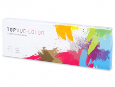 Barevné a Crazy kontaktní čočky - TopVue Color - dioptrické jednodenní (10čoček)