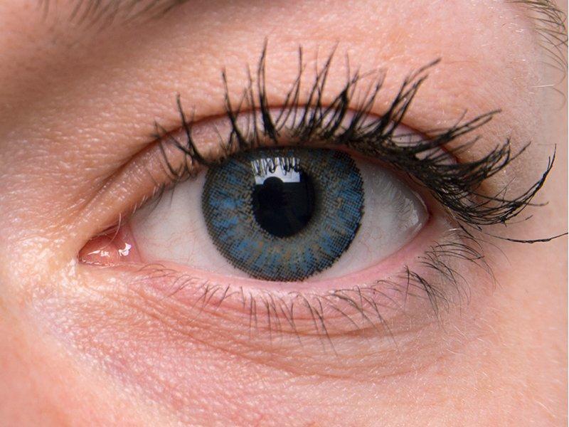 Blue na šedém oku