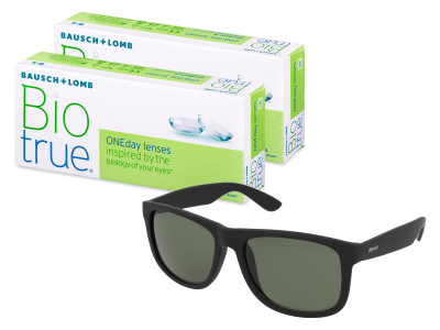 Sluneční brýle Biotrue ONEday (2x 30 čoček) + sluneční brýle Alensa Sport Black Green ZDARMA