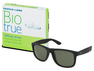 Sluneční brýle Biotrue ONEday (90 čoček) + sluneční brýle Alensa Sport Black Green ZDARMA