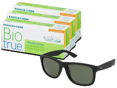 Sluneční brýle Biotrue ONEday for Astigmatism (90 čoček) + sluneční brýle Alensa Sport Black Green ZDARMA