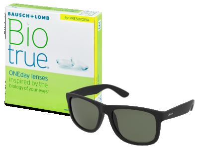 Sluneční brýle Biotrue ONEday for Presbyopia (90 čoček) + sluneční brýle Alensa Sport Black Green ZDARMA