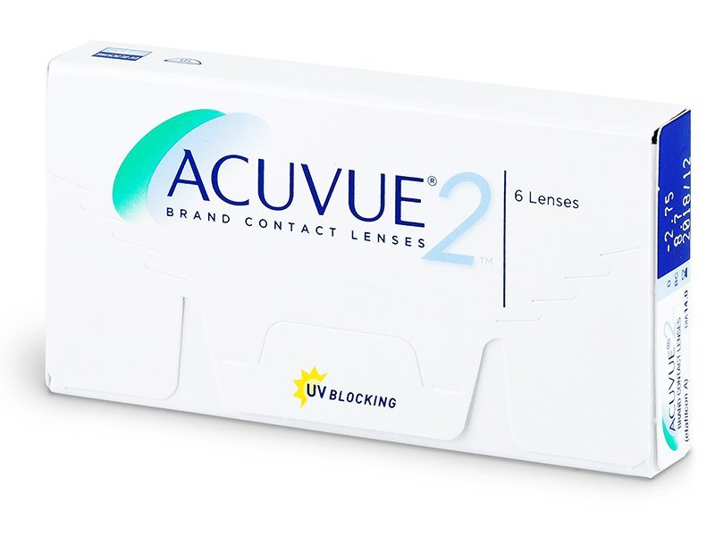 Čtrnáctidenní kontaktní čočky - Acuvue 2 (6čoček)