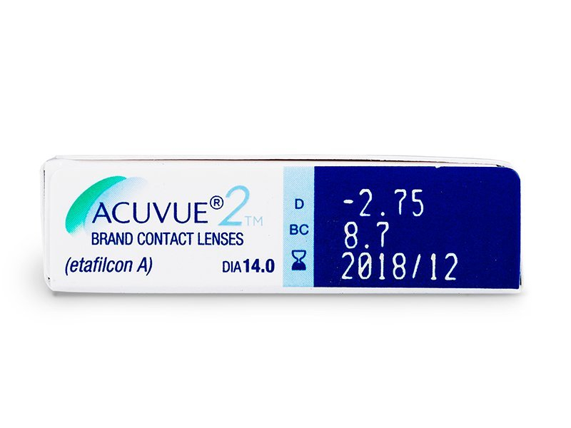 Náhled parametrů čoček - Acuvue 2 (6čoček)