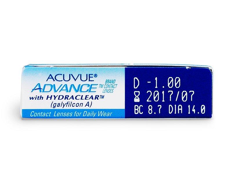 Acuvue Advance (6čoček) - Náhled parametrů čoček