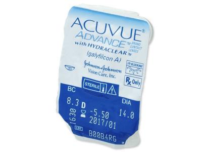 Acuvue Advance (6čoček) - Vzhled blistru s čočkou