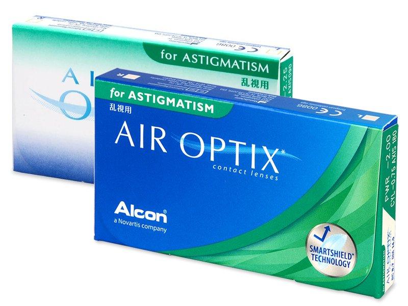 Torické kontaktní čočky - Air Optix for Astigmatism (3čočky)
