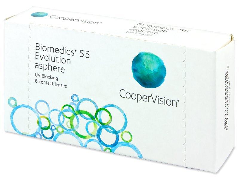 Biomedics 55 Evolution (6čoček) - Měsíční kontaktní čočky - CooperVision