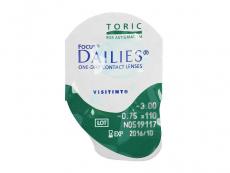 Focus Dailies Toric (30čoček) - Vzhled blistru s čočkou