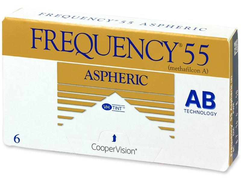 Frequency 55 Aspheric (6čoček) - Měsíční kontaktní čočky - CooperVision