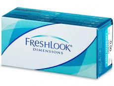 Barevné a Crazy kontaktní čočky - FreshLook Dimensions - nedioptrické (2čočky)