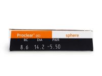 Proclear Compatibles Sphere (6čoček) - Náhled parametrů čoček