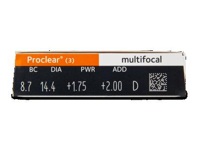 Proclear Multifocal (3čočky) - Náhled parametrů čoček