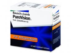 Měsíční kontaktní čočky - PureVision Toric (6čoček)