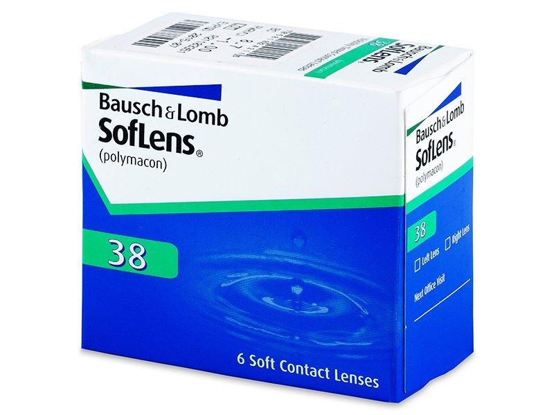 Měsíční kontaktní čočky - SofLens 38 (6čoček)
