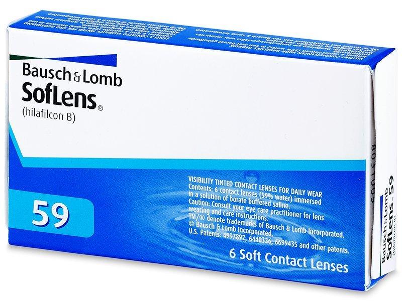 SofLens 59 (6čoček) - Měsíční kontaktní čočky - Bausch and Lomb