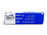 SofLens 59 (6čoček) - Náhled parametrů čoček