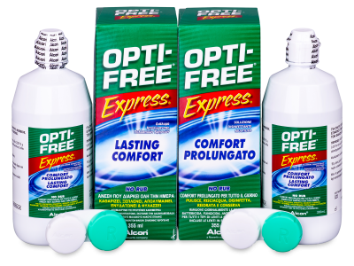 Roztok Opti-Free Express 2 x 355 ml  - Economy duo pack- solution