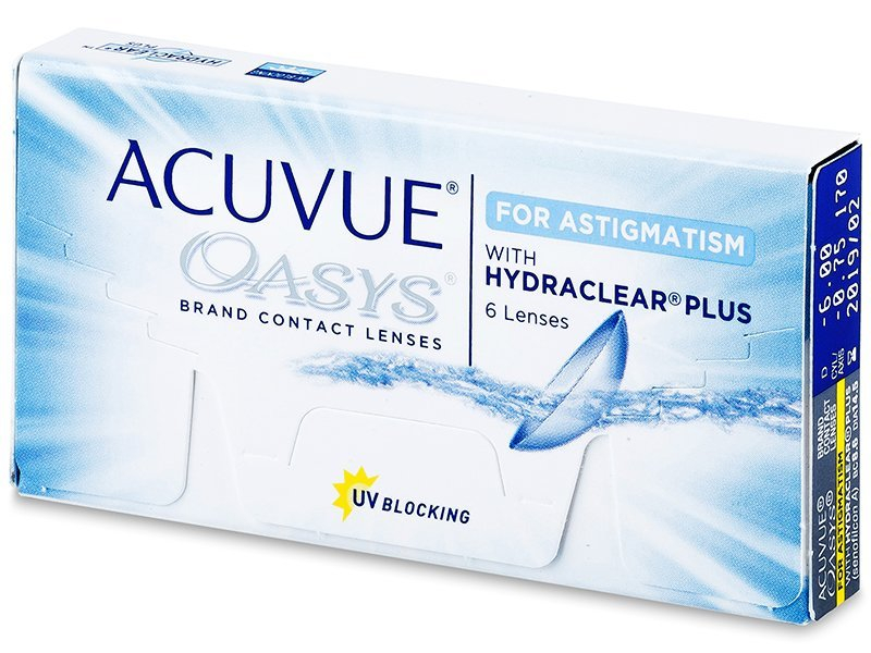 Acuvue Oasys for Astigmatism (6 čoček) - Torické kontaktní čočky - Johnson and Johnson