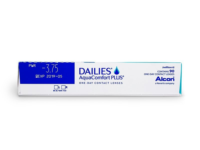 Náhled parametrů čoček - Dailies AquaComfort Plus (90čoček)
