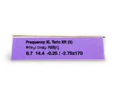 FREQUENCY XCEL TORIC XR (3čočky) - Náhled parametrů čoček