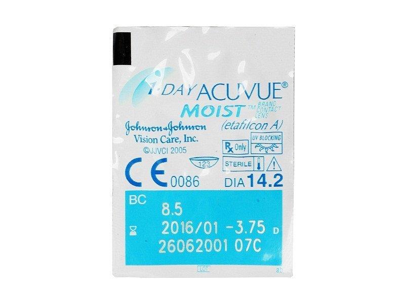 1 Day Acuvue Moist (90čoček) - Vzhled blistru s čočkou