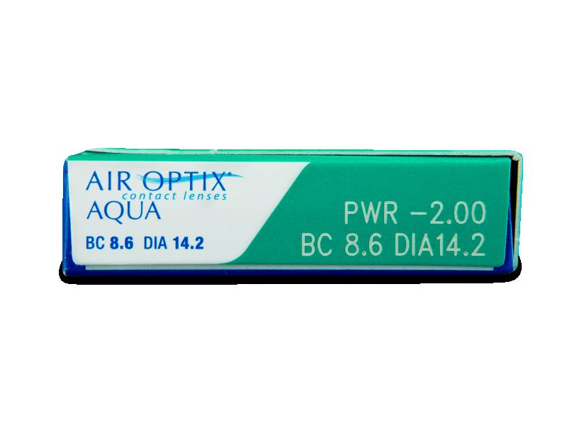 Air Optix Aqua (6čoček) - Náhled parametrů čoček