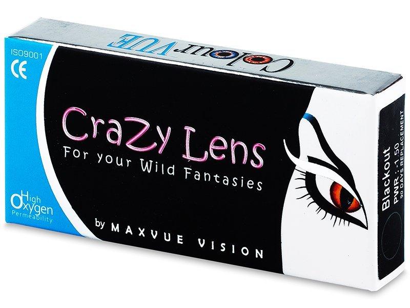 ColourVUE Crazy Lens - dioptrické tříměsíční (2čočky) - Barevné kontaktní čočky - Maxvue Vision
