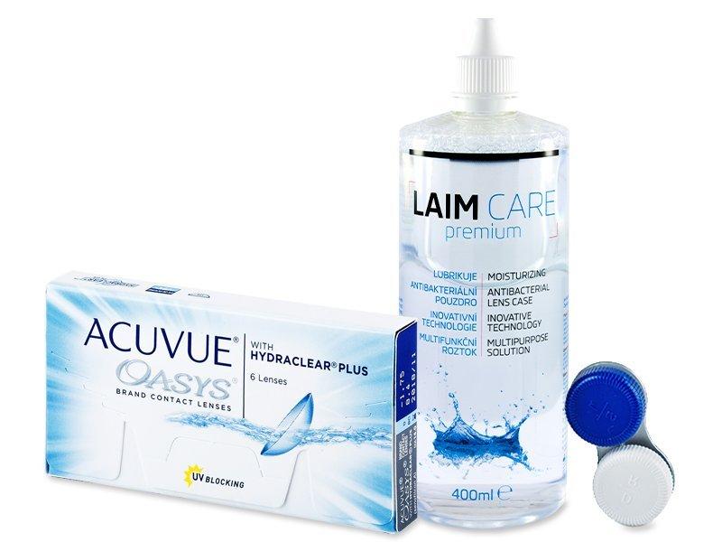 Acuvue Oasys (6čoček) + roztok Laim Care 400ml - Výhodný balíček