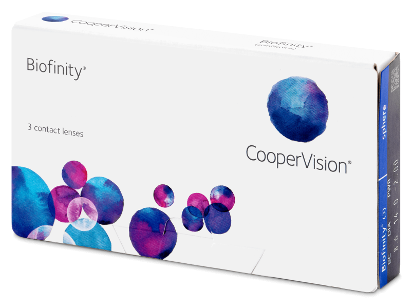 Monthly contact lenses - Biofinity (3čočky)