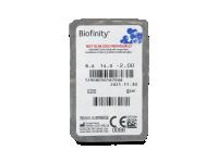 Biofinity (3čočky) - Vzhled blistru s čočkou
