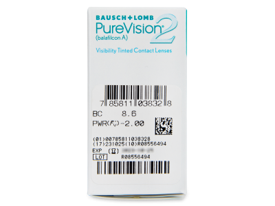 PureVision 2 (6čoček) - Náhled parametrů čoček