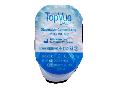 TopVue Daily (30čoček) - Vzhled blistru s čočkou