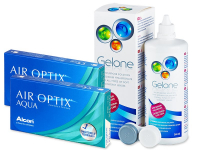 Air Optix Aqua (2x3 čočky) +roztokGelone360ml