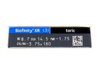 Biofinity XR Toric (3 čočky) - Náhled parametrů čoček