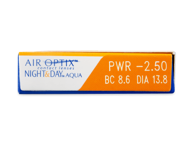 Air Optix Night and Day Aqua (3čočky) - Náhled parametrů čoček