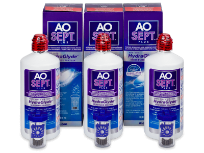 Roztok AO SEPT PLUS HydraGlyde 3 x 360 ml